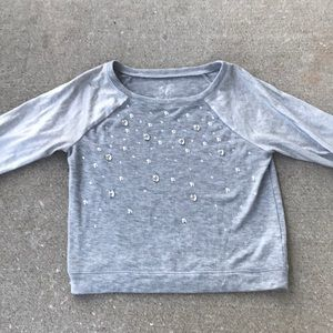 Justice Knit LS with cute beaded design size 14